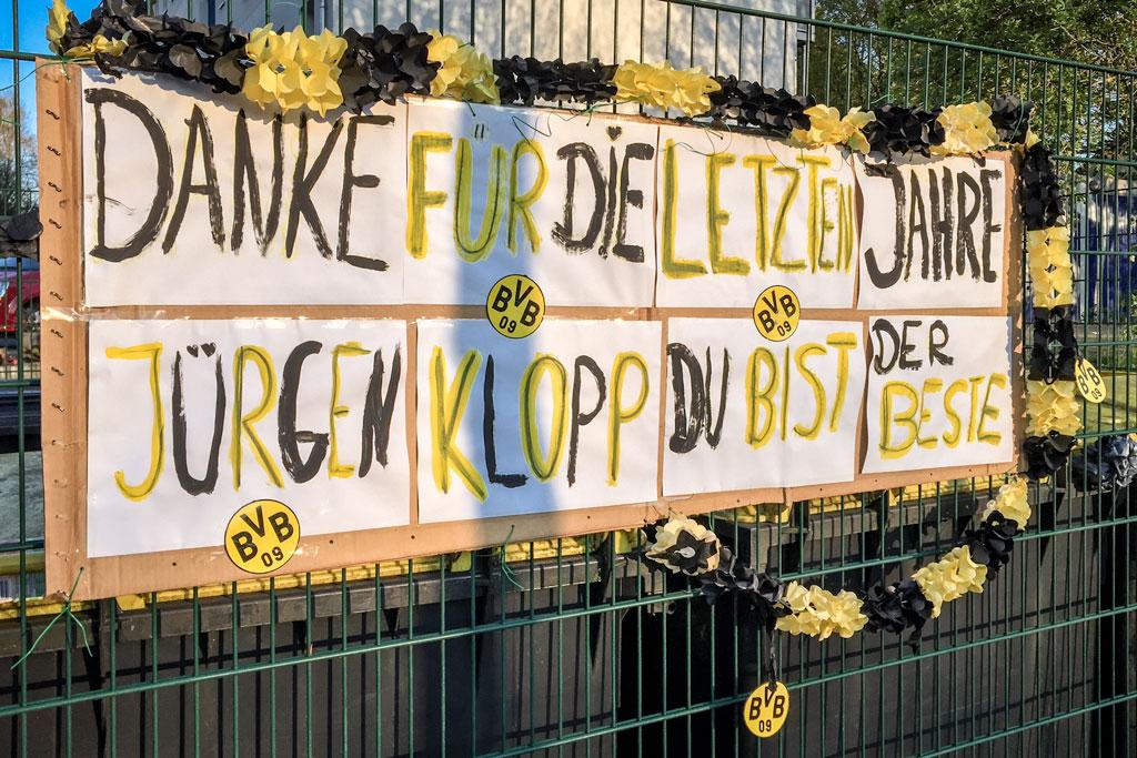 Danksagung für Jürgen Klopp